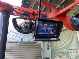 Gương chiếu hậu và camera xe nâng điện kệ đôi